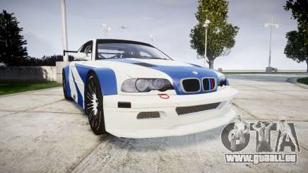 BMW M3 E46 GTR Most Wanted plate NFS-Hero pour GTA 4