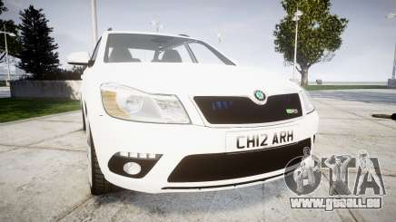 Skoda Octavia vRS Combi Unmarked Police [ELS] pour GTA 4