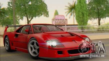 Ferrari F40 Competizione Black Revel pour GTA San Andreas