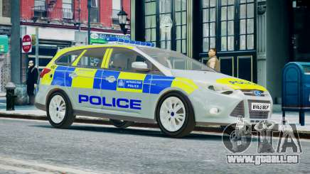 Met Police Ford Focus Estate IRV ELS 8 2013 für GTA 4