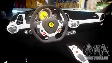 Ferrari 458 Italia 2010 v3.0 Purrari pour GTA 4 est une vue de l'intérieur