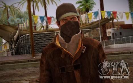 Aiden Pearce from Watch Dogs v5 pour GTA San Andreas troisième écran