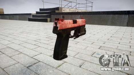 Pistole HK USP 45 rot für GTA 4 Sekunden Bildschirm