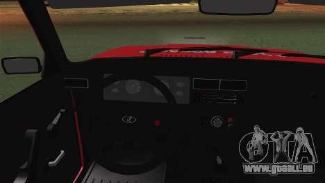 VAZ 2107 Auto École pour GTA San Andreas sur la vue arrière gauche