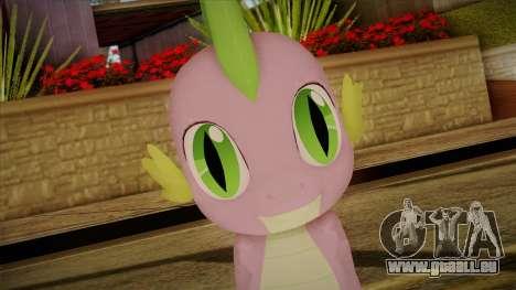 Spike from My Little Pony pour GTA San Andreas troisième écran