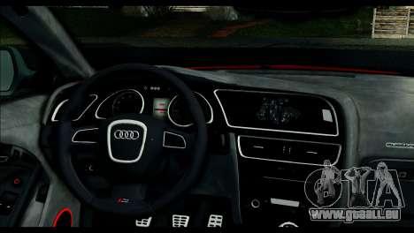 Audi RS5 Coupe pour GTA San Andreas sur la vue arrière gauche