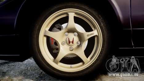 Honda NSX-R NA1 1992 [EPM] pour GTA 4 Vue arrière