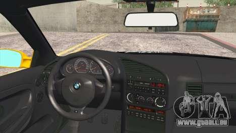 BMW M3 E36 Camber Style für GTA San Andreas zurück linke Ansicht