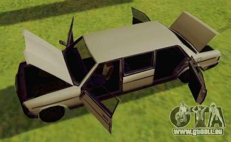 Admiral Limousine für GTA San Andreas rechten Ansicht