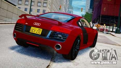 Audi R8 V10 Plus 2014 v1.0 pour GTA 4 est une gauche