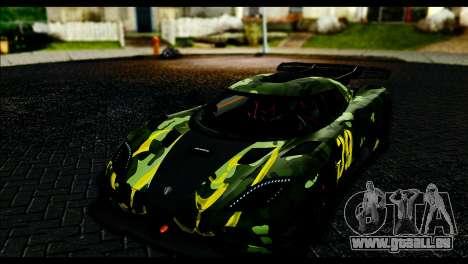 Koenigsegg One:1 v2 für GTA San Andreas Innenansicht