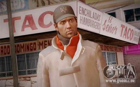 Aiden Pearce from Watch Dogs v7 pour GTA San Andreas troisième écran