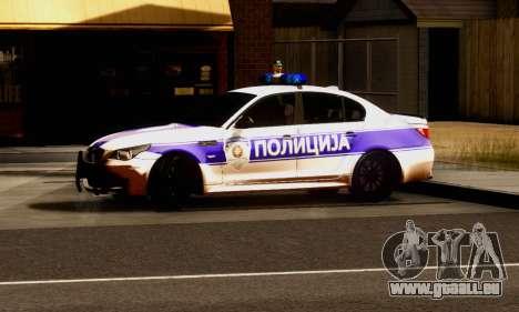 BMW M5 E60 POLICIJA für GTA San Andreas