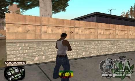 C-HUD Rasta pour GTA San Andreas deuxième écran