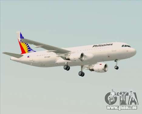 Airbus A320-200 Philippines Airlines pour GTA San Andreas sur la vue arrière gauche