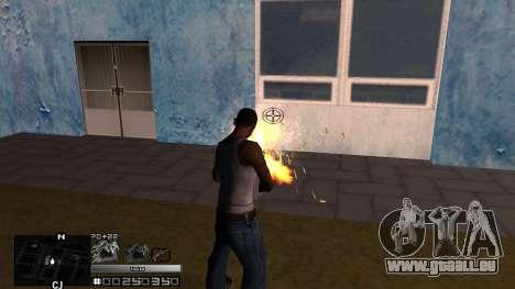 C-HUD Silver pour GTA San Andreas troisième écran