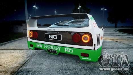 Ferrari F40 1987 [EPM] Jolly Club pour GTA 4 Vue arrière de la gauche