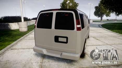 Chevrolet Express 2013 NYPD [ELS] unmarked für GTA 4 hinten links Ansicht