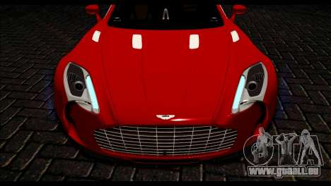 Aston Martin One-77 Black Beige pour GTA San Andreas vue de droite