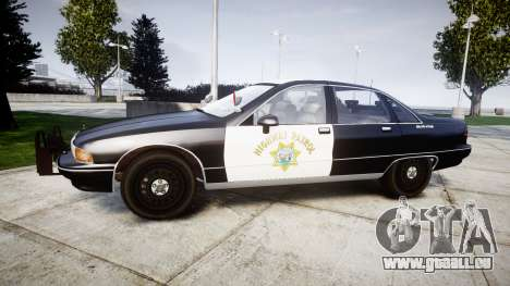 Chevrolet Caprice 1991 Highway Patrol [ELS] Slic pour GTA 4 est une gauche