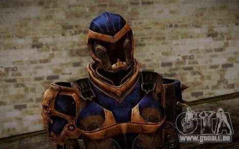Shepard Reckoner Armor from Mass Effect 3 für GTA San Andreas dritten Screenshot
