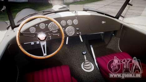 AC Cobra 427 PJ1 pour GTA 4 est une vue de l'intérieur