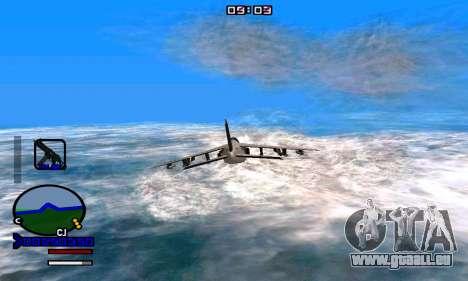 C-HUD Normal pour GTA San Andreas troisième écran