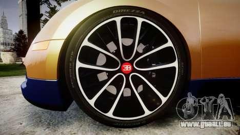 Bugatti Veyron 16.4 v2.0 pour GTA 4 Vue arrière