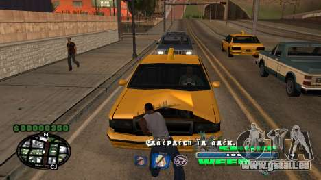 C-HUD Smoke Weed pour GTA San Andreas deuxième écran