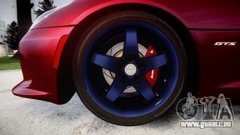 Dodge Viper SRT GTS 2013 für GTA 4 Rückansicht