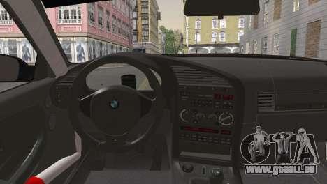 BMW M3 E36 Bridgestone v2 pour GTA San Andreas sur la vue arrière gauche