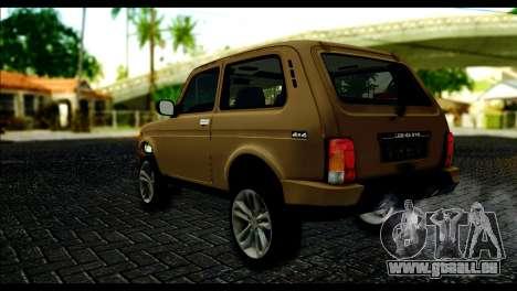 Lada 4x4 Urban pour GTA San Andreas laissé vue