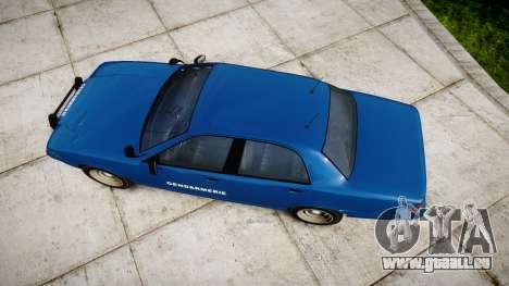 GTA V Vapid Police Cruiser Gendarmerie2 pour GTA 4 est un droit