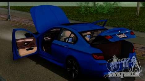 BMW M5 F10 2012 pour GTA San Andreas moteur