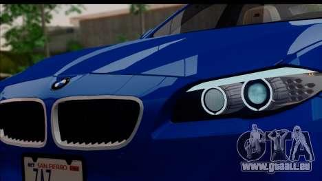 BMW M5 F10 2012 pour GTA San Andreas vue de côté
