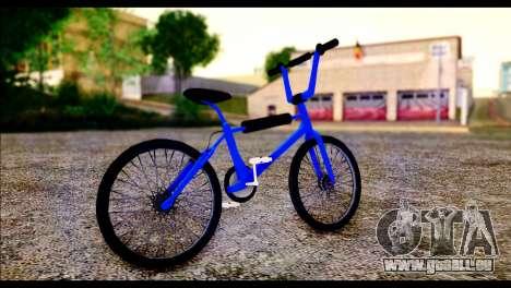 New BMX Bike pour GTA San Andreas sur la vue arrière gauche