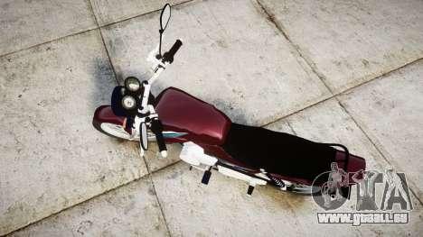 Yamaha YBR 125 für GTA 4 rechte Ansicht