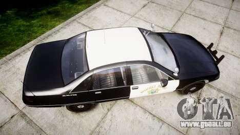 Chevrolet Caprice 1991 Highway Patrol [ELS] Slic pour GTA 4 est un droit