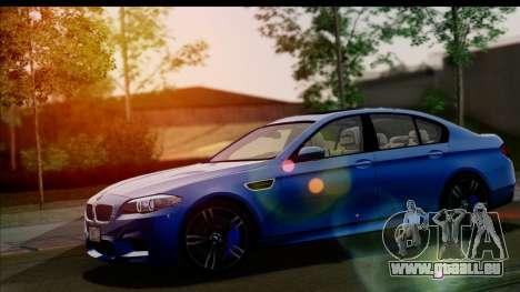 BMW M5 F10 2012 für GTA San Andreas Unteransicht