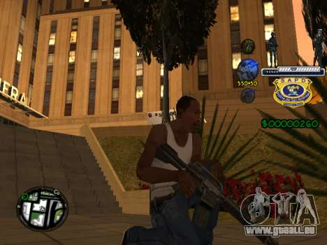C-HUD Police S.A.P.D pour GTA San Andreas quatrième écran