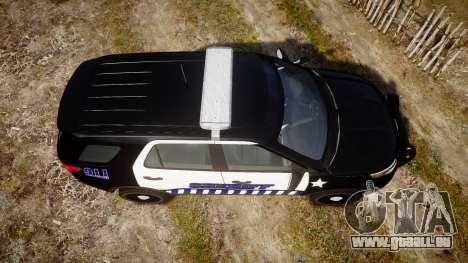 Ford Explorer 2013 Sheriff [ELS] v1.0L pour GTA 4 est un droit