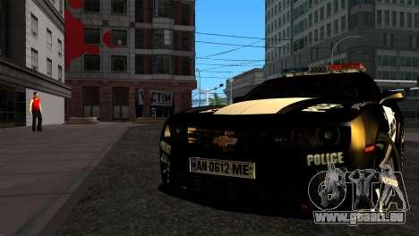 Chevrolet Camaro Police für GTA San Andreas