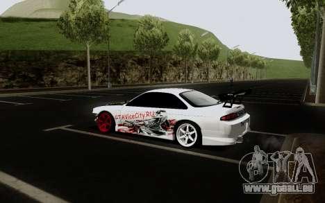 Nissan Silvia S14 VCDT V2.0 pour GTA San Andreas vue arrière