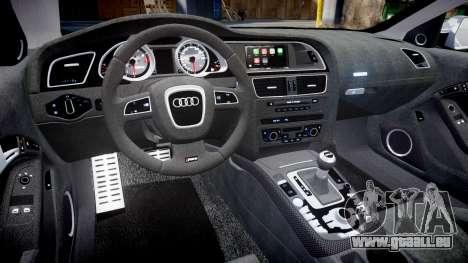 Audi RS5 2012 v2.0 pour GTA 4 est une vue de l'intérieur
