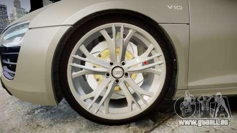 Audi R8 V10 Plus 2014 pour GTA 4 Vue arrière
