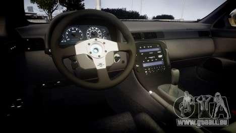 Lexus SC300 1997 Sharpie pour GTA 4 est une vue de l'intérieur
