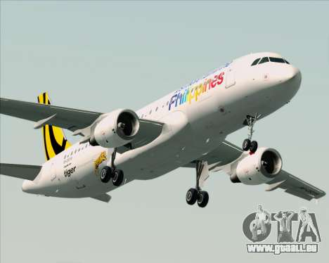 Airbus A320-200 Tigerair Philippines pour GTA San Andreas moteur
