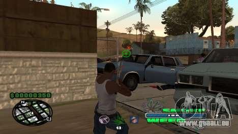 C-HUD Smoke Weed pour GTA San Andreas troisième écran