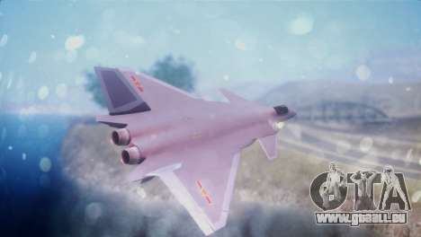 Chenyang J-20 Air Force BF4 für GTA San Andreas linke Ansicht