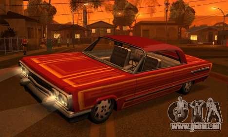 Beta Savanna pour GTA San Andreas vue de dessous